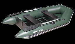 Надувная моторная лодка со сланевым дном Discovery DM260LS (весло алюминиевые разборные,слань-5)