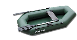 Надувная гребная лодка Cayman C220Lалюминиевые вёсла
