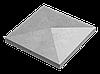 Крышка для заборов - конусная, 480х480х90, серый, Авеню