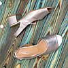 Женские босоножки на невысоком каблуке, цвет серебро, фото 4