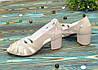 Босоножки женские лаковые на невысоком устойчивом каблуке, фото 2