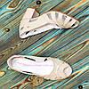 Босоножки женские лаковые на невысоком устойчивом каблуке, фото 4
