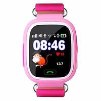 Дитячі розумні годинник-телефон з GPS трекером Smart Watch Q90 Рожеві, фото 1