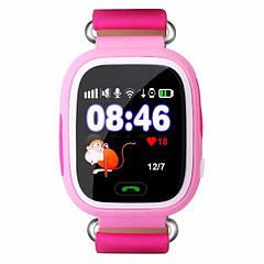 Дитячі розумні годинник-телефон з GPS трекером Smart Watch Q90 Рожеві