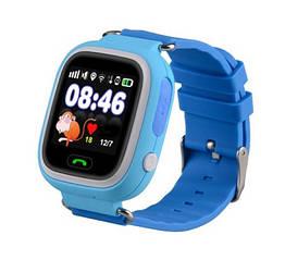 Дитячі розумні годинник-телефон з GPS трекером Smart Watch Q90 Блакитні