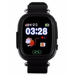 Дитячі розумні годинник-телефон з GPS трекером Smart Watch Q90 Чорні