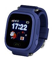 Детские умные часы-телефон с GPS трекером Smart Watch Q90 Тёмно синие, фото 1
