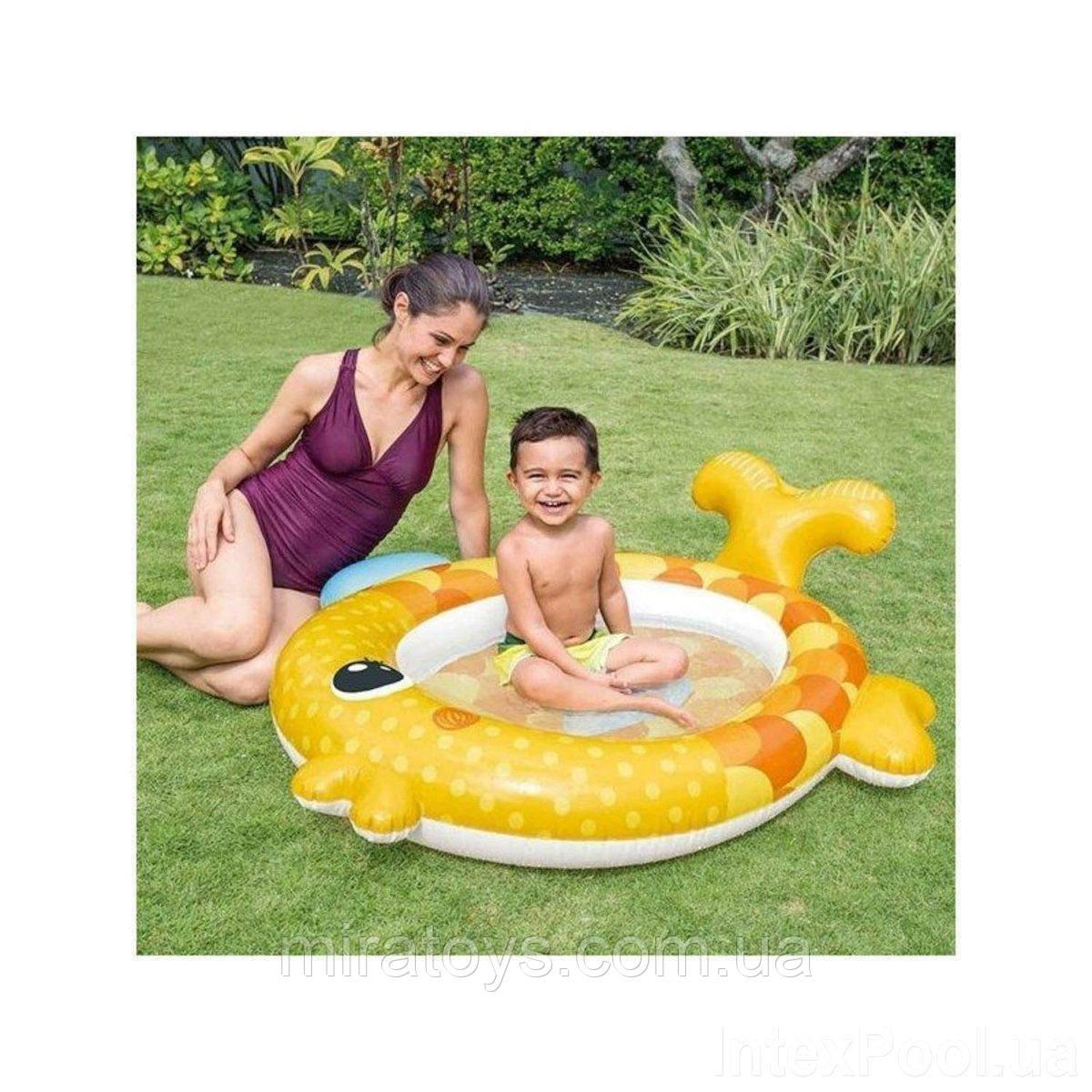 ✅Дитячий надувний басейн Intex 57111 «Золота рибка», 140 х 124 х 34 см
