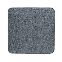 Електричний килимок з підігрівом Теплик з термо і гідроізоляцією 100 х 100 см Темно-сірий, фото 1