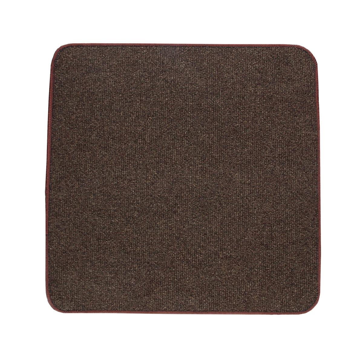 Електричний килимок з підігрівом Теплик двосторонній 100 х 100 см Темно-коричневий