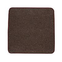 Електричний килимок з підігрівом Теплик двосторонній 100 х 100 см Темно-коричневий, фото 1