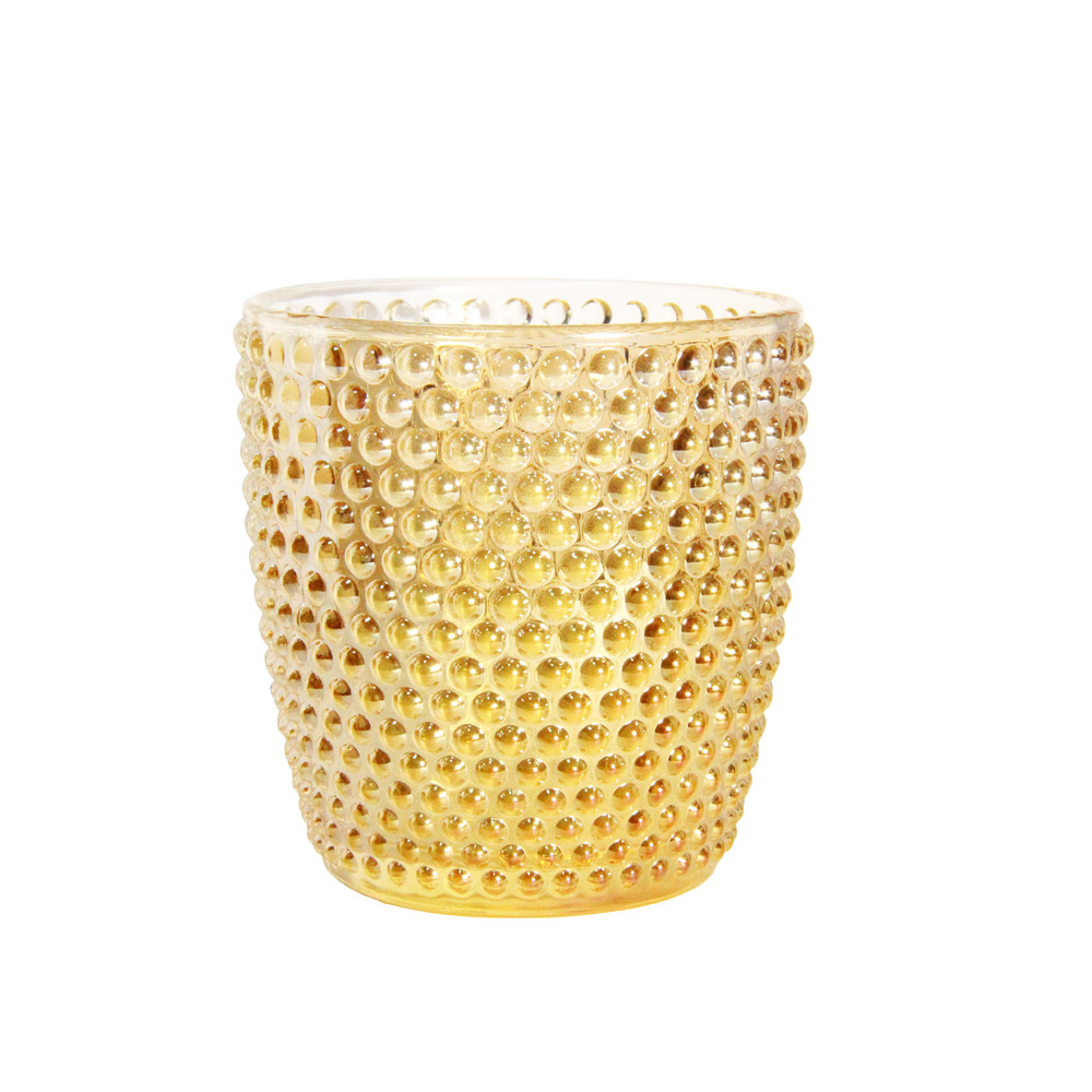 Стаканы золотистые 6 шт 300 мл Сота ( стаканы стеклянные )