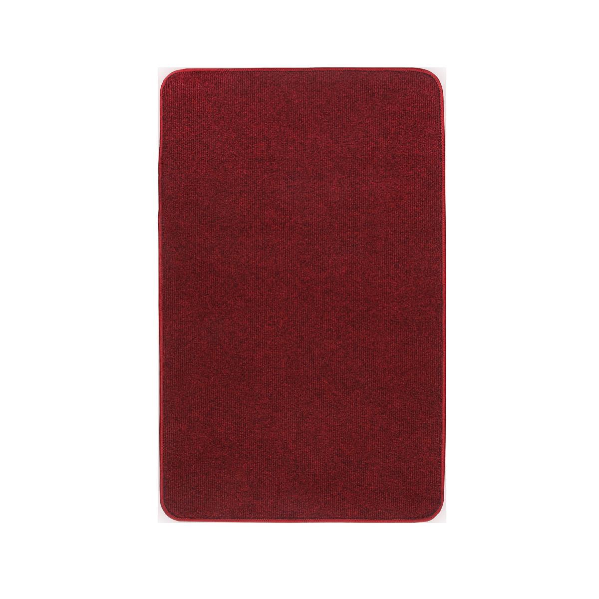 Електричний килимок з підігрівом Теплик двосторонній 50 х 100 см Темно-червоний