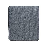 Електричний килимок з підігрівом Теплик з термоізоляцією 50 х 60 см Темно-сірий, фото 1