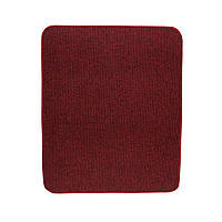 Електричний килимок з підігрівом Теплик двосторонній 50 х 60 см Темно-червоний, фото 1
