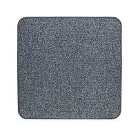 Електричний килимок з підігрівом Теплик з термоізоляцією 50 х 50 см Темно-сірий, фото 1