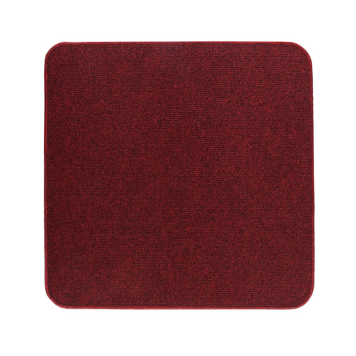 Электрический коврик с подогревом Теплик с термоизоляцией 50 х 50 см Темно-красный