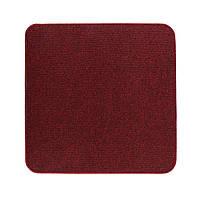 Електричний килимок з підігрівом Теплик з термоізоляцією 50 х 50 см Темно-червоний, фото 1