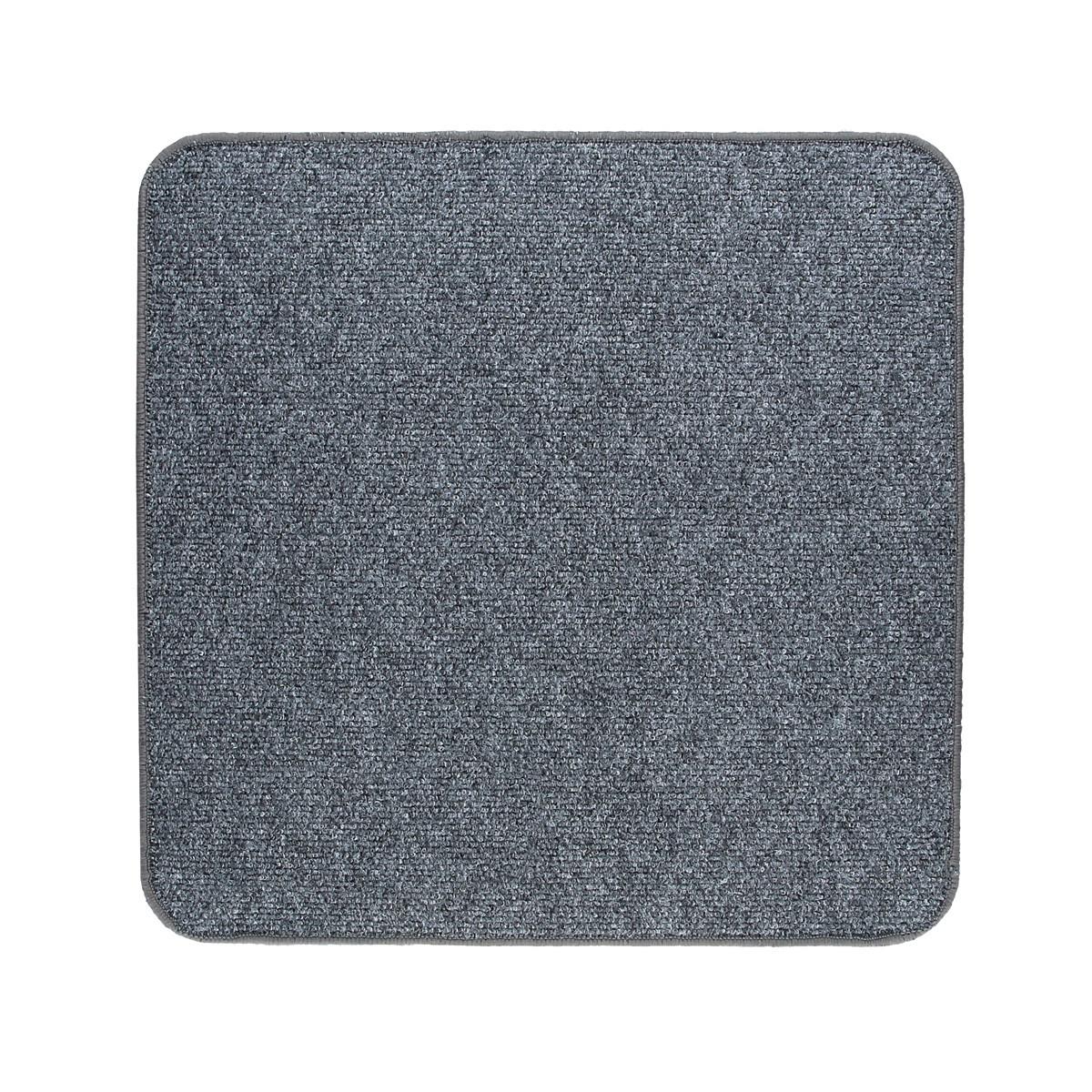 Електричний килимок з підігрівом Теплик двосторонній 50 х 50 см Темно-сірий
