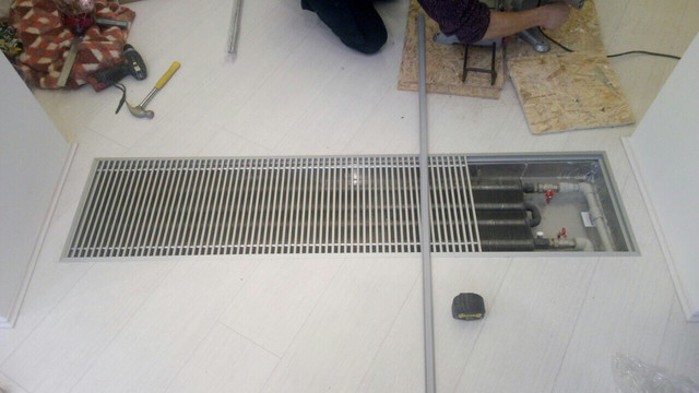 внутрипольный конвектор 4х трубный