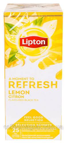 Черный чай пакетированный Lipton Lemon Tea (Лимон) 25 шт