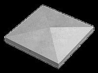 Крышка для заборов - конусная, 680х680х110, серый, Авеню