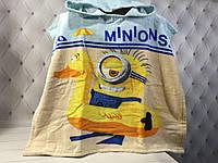 Детское пляжное полотенце пончо 56*115 см, Миньйоны 2