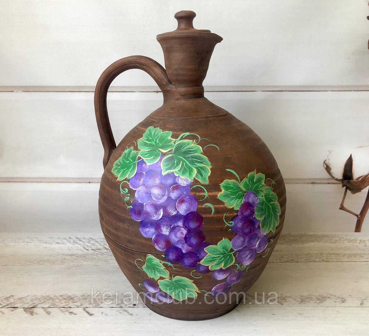 Эксклюзивный глиняный кувшин с декором