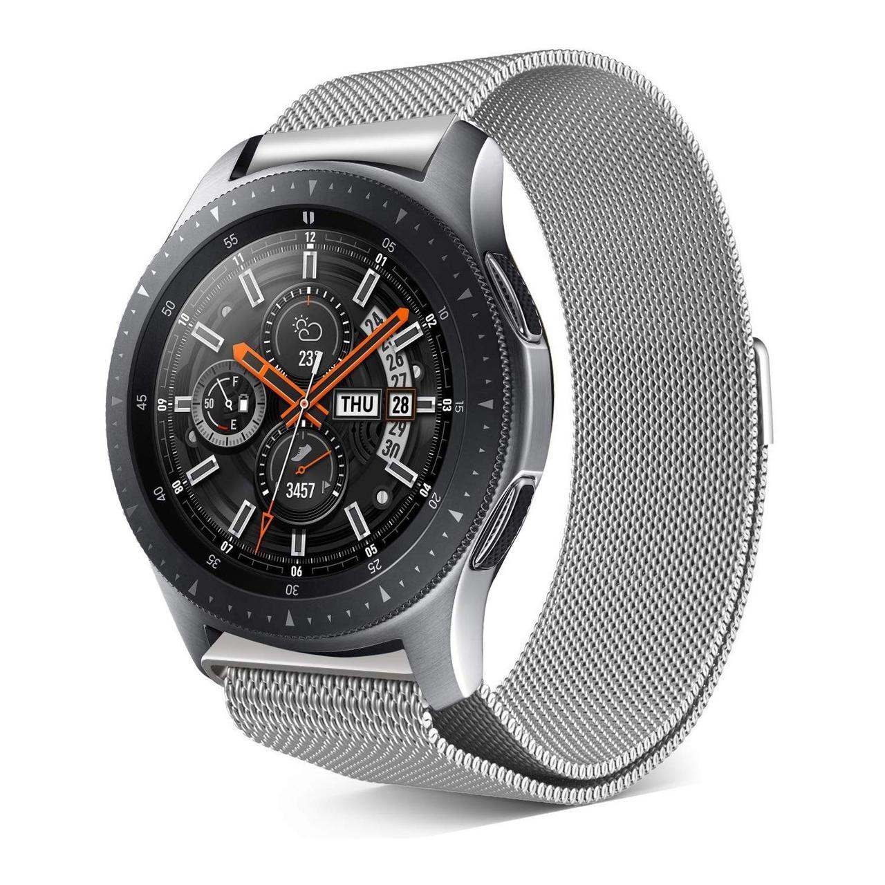 ⌚Ремешок BeWatch миланская петля для Samsung Galaxy Watch 42 мм Серебро