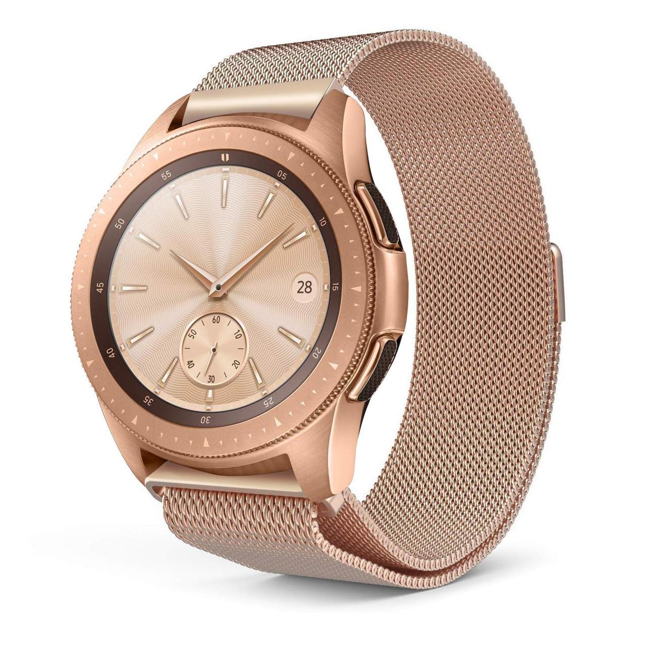 Ремешок BeWatch миланская петля для Samsung Galaxy Watch 42 мм Розовое золото (1010238.3)