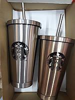 Термостакан с крышкой и трубочкой Starbucks 500 мл