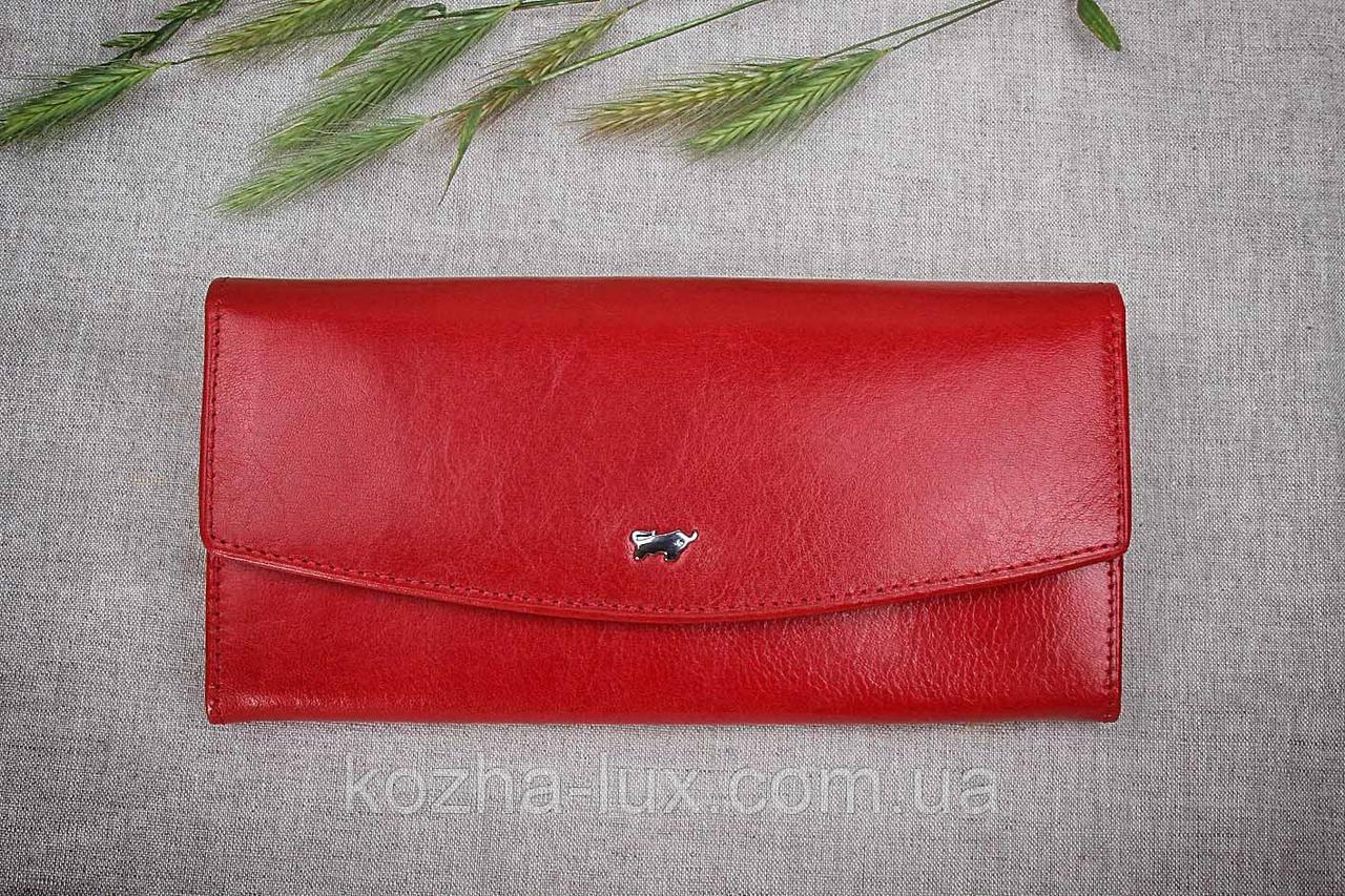 Кошелек женский кожаный красный Braun Buffel без металла, натуральная кожа