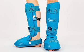Захист гомілки з футами для єдиноборств PU Araza BO-7249 (розмір XS-XL, кольори в асортименті) Replica
