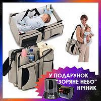 Многофункциональная детская сумка кровать Ganen Baby Bed and Bag рюкзак для мам