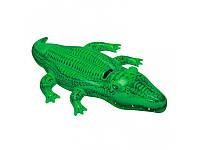 Надувная игрушка - плот Крокодил  203х114см,  Intex 58562