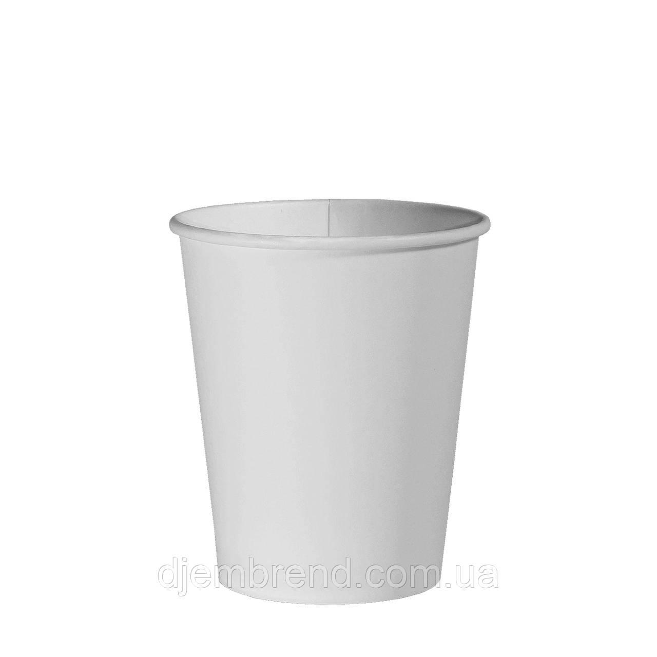 Стакан бумажный Белый 300мл. 50шт/уп (1ящ/20уп/1000шт) (КР80)