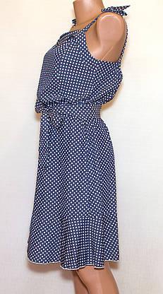 Повседневное платье-сарафан в горошек, фото 3