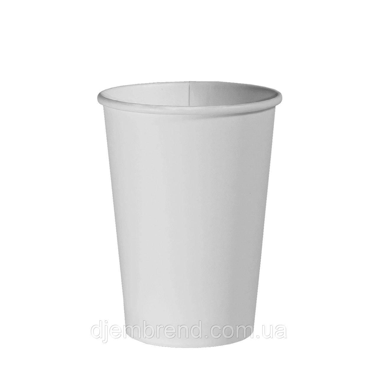 Стакан бумажный Белый 340мл. 50шт/уп (1ящ/40уп/2000шт) (КВ80)
