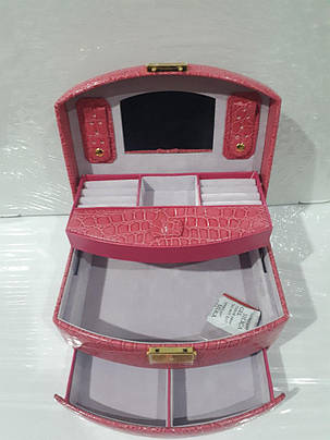 Кожаная шкатулка для украшений с вкладышем (431965 R1), фото 2