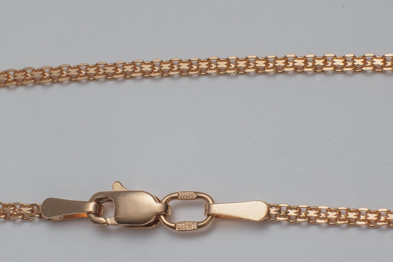 Золотая цепочка двойной якорь П12203041
