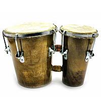 Бонго барабан двойной 29 х 14 х 17 см
