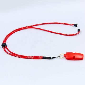 Свисток суддівський пластиковий FOX40-MICRO (110dB, на шнурі)