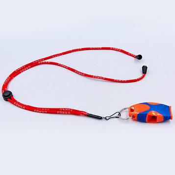 Свисток суддівський пластиковий FOX40-SHARX-SAFETY (120dB, на шнурі)