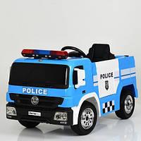 Детский электромобиль Полиция M 4076EBLR-4 синий