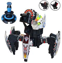 Робот-Паук р/у Keye Space Warrior + ракеты/диски/лазер Серебристый (21541S)