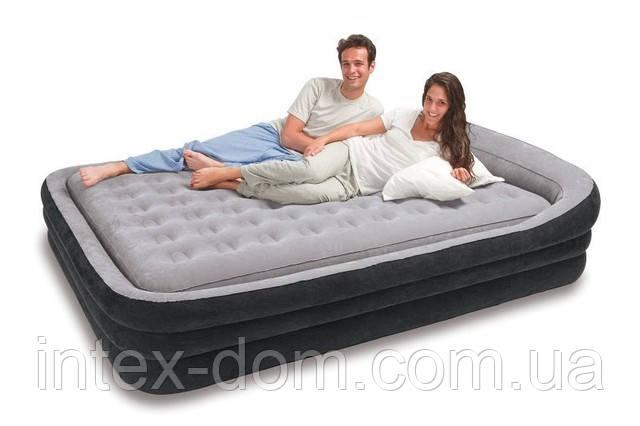 Двуспальная надувная кровать Intex 66974N(241х180x56) Comfort Frame Bed + внешний электронасос киев