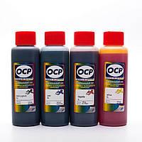 Чернила пигментные OCP Canon MAXIFY MB5040, MB5340, iB4040, MB5140, MB5440, iB4140 комплект 4x100 мл (BKP230/CP/MP/YP230)