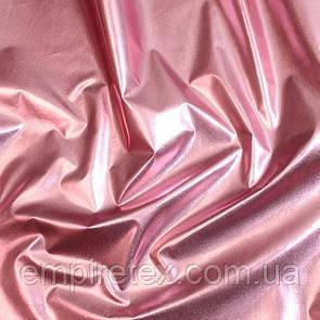 Плащевка Фольга Розовый