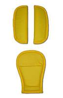 Накладки на ремни безопасности DavLu желтый (N-047)