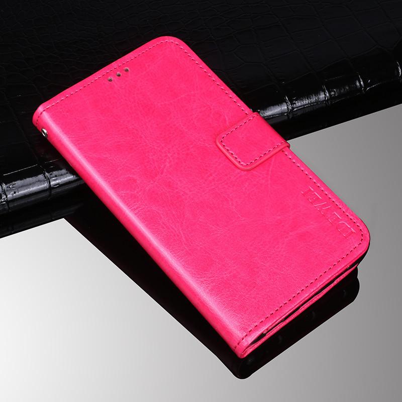 Чехол книжка Idewei для Xiaomi Redmi note 7 / Note 7 Pro Розовый